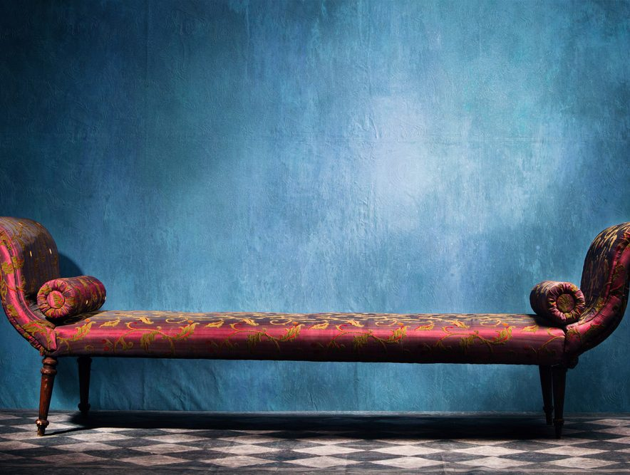 Tapete za zid dnevna soba i fotelja